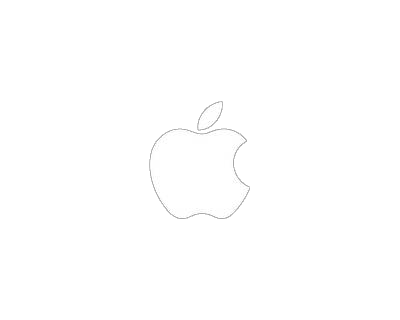 apple logo white vector. fashomwhite apple logo transparent background white vector